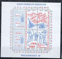 St.Pierre et Miquelon 1989 Yv. 3 Bloc Feuillet 100% Neuf ** Philexfrance, Calif
