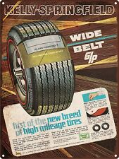 "1968 Kelly Springfield Tires Man Cave Garage Shop Metal Sign Repro 9x12"" 60511"