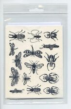Botanical Insects Black Fused Glass / Ceramic Decals