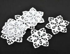 30 White Filigree Flower Wraps Jewelry Findings Connectors 57x57mm
