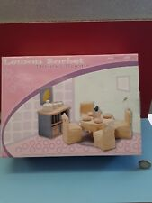 Le Toy Van Sugar Plum Dining Room Wooden Children's Dolls House Set New
