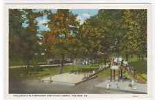 Childrens Playground Picnic Grove Pen Mar Pennsylvania 1920s postcard