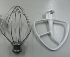 KitchenAid KSM90 Stand Mixer Wire Whip and Flat Beater Set GENUINE