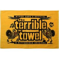 MYRON COPE'S PITTSBURGH STEELERS THANKSGIVING TERRIBLE TOWEL NEW with TAGS