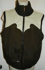 Burton Women's Vest Puffer Size S Small Brown Tan Full Zip Western Water proof