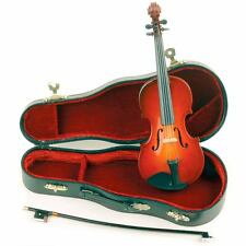 """Miniature 8"""" Violin, Bow & Case for Display -  FAST SHIPPING!"""