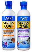 API STRESS COAT & STRESS ZYME 473ML AQUARIUM FISH TANK TAP FILTER BOOSTER