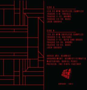 "Redmist  12"" Scratch Record Skipless Scratch Sample Vinyl Black Cut and Paste"