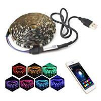1-5m RGB LED étanche bande lumineuse SMD Bluetooth Remote 5V DC Power Kit 5050