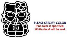 "Hello Kitty Darth Vader JDM Funny Vinyl Decal Car Sticker Window Wall Laptop 7"""