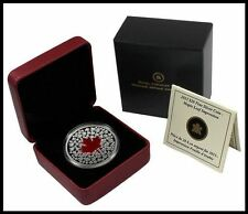 2013 Canadian Silver Maple Leaf Red Enamel Proof 1oz RARE Low Mint