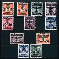 POLAND 1940 Overprints. Values to 80a on 75a.. (11). Lightly Hinged Mint.(AB941)