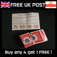 Shrinking Card Box - Close-up Card Magic Trick- NEW