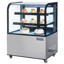 Polar Refrigerated Deli Cake Display with Curved Glass 270Ltr 1275Hx915Wx725Dmm