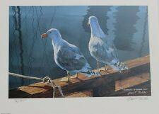 Grant Fuller Hand Signed Numbered Limited Edition Sharing a Warm Spot 1990