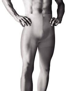 Active Mens Opaque Microfiber Tights Black S-XL Hosiery Underwear by Knittex