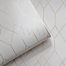 ESPRIT GEOMETRIC DIAMOND WALLPAPER WHITE / COPPER - AS CREATION 32792-1 NEW