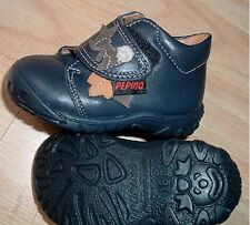 Baby girl blue leather shoe size 2 (EU18) RICOSTA pepino    rrp 38