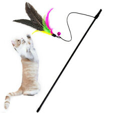 Funny Kitten Cat Teaser Interactive Toy Rod with Bell and Feather Pet toys Stick