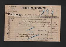 BREMEN, Rechnung 1920, Wilhelm Syamken