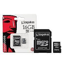 Kingston 16 GB Class 4 - MicroSDHC Card - (SDC4/16GB)