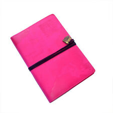 WORLD TRAVEL JOURNAL Pink Embossed Bucket List Holiday Travellers Notepad Book