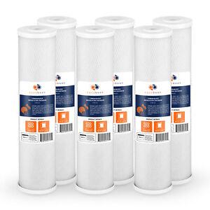 """6PK of Aquaboon Big Blue 5µm Coconut Shell Carbon Block Water Filter 20""""x4.5"""""""