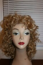 """fabulous vintage drag blonde curly wig tony of beverly """"misty"""" in golden scotch"""