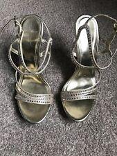 Aldo Gold Shoes Sandals Stiletto Size 5 Platform Christmas rrp £80
