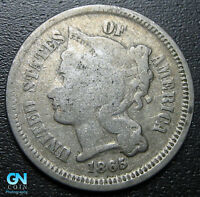 1865 3 Cent Nickel Piece  --  MAKE US AN OFFER!  #G5492