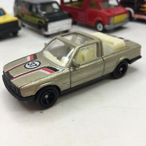 VINTAGE UNBRANDED GOLD #37 BMW 325i RALLY 1:64 DIE CAST HONG KONG VARIATION