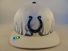 Indianapolis Colts NFL Reebok Flex Hat Cap Size S/M White Blue