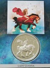 LADY GODIVA 1 OZ SILVER PROOF Round Steve Ferris Design Coin & ART SLAB Limited