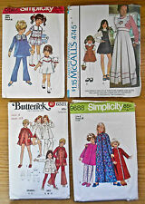 Lot of 4 Child Sewing Patterns sizes 4 and 5