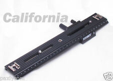 "Fotomate 250mm Movable Range 2 Way Macro Focusing Rail Slider 1/4"" Screw LP03"