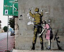 Banksy canvas print Frisk Israel Wall 22 x 27 inches street art graffiti