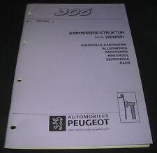 Werkstatthandbuch Peugeot 306 Karosserie Struktur Stand September 1997