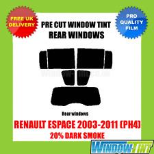 Renault Espace 2003-2011 (PH4) 20% dunkel hinten Vorgeschnittene Scheibentönung