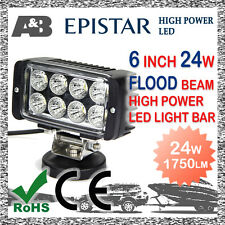 "6"" 24W 8-LED WORK LIGHT /Light BAR OFFROAD WORK LAMP Flood Beam 1750LM"