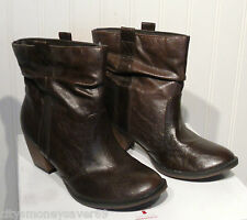 NIB Hot Kiss Ryder Womens Faux Leather Ankle Boots 6 Brown MSRP$80