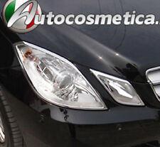 CORNICI PROFILI FARI IN ABS CROMO Mercedes E C207 A207 W207 Coupe Cabrio AMG