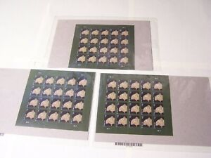 Tiffany Lamp Pane of 1 Cent Stamps 20 New Stamps On Sheet... MNH 3 Sheets of 20