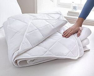 1.5 tog 100% Cotton Duvet With Cotton Cover & Filling Luxury Bound Edge All Size
