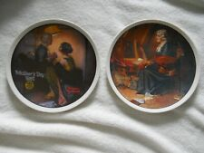 2 Norman Rockwell Collector plate Mother's Day 1979 1981