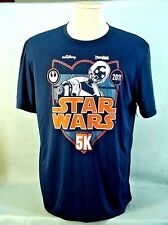 2017 Star Wars Half Marathon Weekend 5K Navy Disneyland Resort T-Shirt 2Xl New