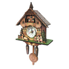 Antique Style Cuckoo Wall Clock Decorative Wooden Clock Home Bar Decor Gifts J