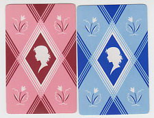 Playing Swap Cards  GENUINE 2 only single DECO LADY HEADS