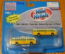 Classic Metal Works #52303 GMC TD 3610 Transit Bus 2-Pack - National City Lines