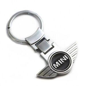 NEW Silver Chrome Keyring Key Chain for MINI Cooper S Countryman Clubman Cars UK