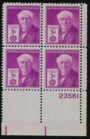 US Scott #945, Plate Block #23561 1948 Edison 3c FVF MNH Lower Right